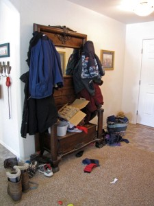Leave space for Airbnb guests shoes and jackets